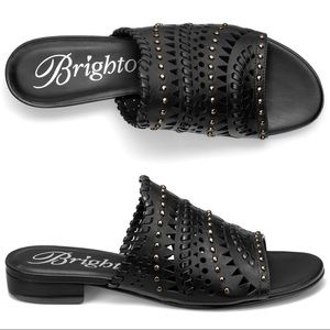 "Brighton ""NEO"" Leather Mules Size 9.5"